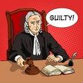 Judge verdict comic book vector Royalty Free Stock Photo