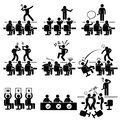 Judges audition singing performance talent show a set of pictograms representing a and by Stock Photo