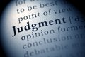 Judgment Royalty Free Stock Photo