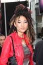 Judith hill arriving at the this is it premiere nokia theater at la live los angeles ca october Royalty Free Stock Image