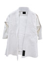 Judo suit under the white background Royalty Free Stock Photography