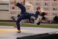 Judo technique at santiago open tournament Royalty Free Stock Image