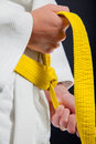 Judo white belt Royalty Free Stock Photo