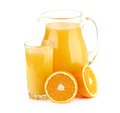 Jug glass of orange juice and orange fruits see my other works in portfolio Stock Images