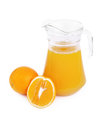 Jug of orange  juice Royalty Free Stock Photos
