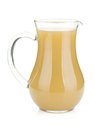 Jug of pear juice Royalty Free Stock Photo