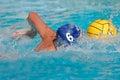 Jugador del water polo Imagen de archivo