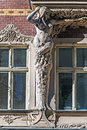 Jugend fragment of art nouveau architecture style of riga city Royalty Free Stock Image