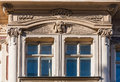 Jugend fragment of art nouveau architecture style of riga city Royalty Free Stock Photo