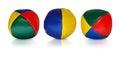Juggler balls reflecting Royalty Free Stock Photo