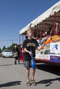 Juggler shows skill a talented his at the rathdrum days in rathdrum idaho on july Stock Photo