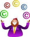 Juggling copyright Royalty Free Stock Photos
