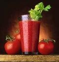 Jugo de tomate Fotos de archivo libres de regalías