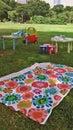 Juguete de los niños en el parque Fotografía de archivo