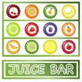 Juice Bar drinks menu Royalty Free Stock Photography