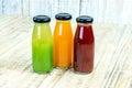 Juice Bottle On Wooden Backgro...