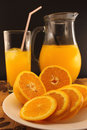 Juice of fresh oranges Stock Images