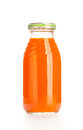 Juice glass bottle of fruit isolated over white background Royalty Free Stock Images