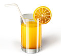 Juice glass isolated on a white background Royalty Free Stock Photo