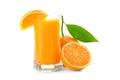 Juice glass and orange fruit