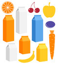 Juice isolated objects on white background vector illustration eps Stock Photography