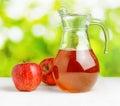 Jug Of Apple Juice On Nature B...