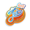 Juice label natural calligraphic handwritten Royalty Free Stock Image
