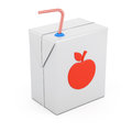 Juice package on white background d rendering illustration Stock Images