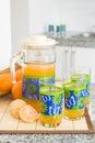 Juice pitcher Royalty-vrije Stock Afbeeldingen
