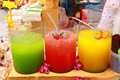Juice shop the ice sweet taste traditional thailand Stock Photography