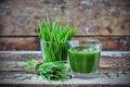 Juice Wheatgrass in a glass
