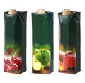 Juices packs with screw cap different Royalty Free Stock Photos