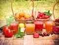 Juices and smoothies Royalty Free Stock Photo