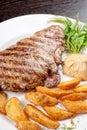 Juicy beef steak Stock Image