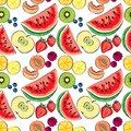 stock image of  Juicy colorful fruit vector pattern,can be used as banner