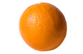 Juicy fresh orange on white background