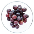Juicy full bodied grapes in a wine glass rich dark Royalty Free Stock Image