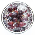 Juicy full bodied grapes in a wine glass rich with ice Stock Photography