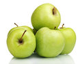 Juicy green apples Stock Photo