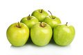 Juicy green apples Royalty Free Stock Photo