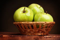 Juicy green apples Stock Photography