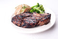 Juicy grilled rib steak Royalty Free Stock Photo