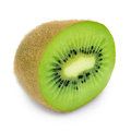 Juicy kiwi fruit isolated on white background a Stock Photography