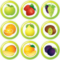 Juicy Labels Royalty Free Stock Images