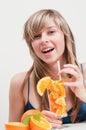 Juicy orange fruits Royalty Free Stock Photo