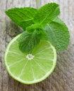Juicy ripe limes Royalty Free Stock Photo