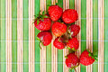 Juicy ripe strawberries Stock Photography