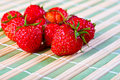 Juicy ripe strawberries Royalty Free Stock Images
