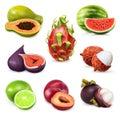 Juicy ripe sweet fruits
