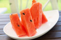 Juicy slice of watermelon Royalty Free Stock Photo